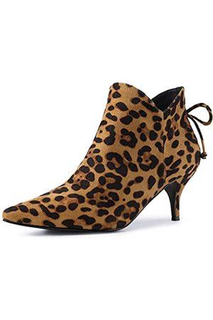 Allegra K Damen Overknees High Plateu Blockabsatz Boots Stiefel 38 EU
