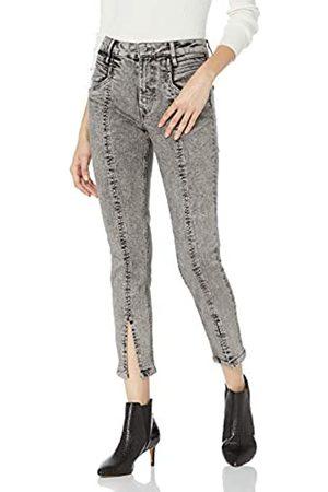 The Drop The Drop Mallory Jeans für Damen, hohe Taille, ergonomisch, Grau (Ice Gray)