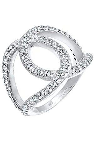 Elli Elli Ring Damen Liebe Knoten mit Swarovski® Kristalle in 925 Sterling Silber