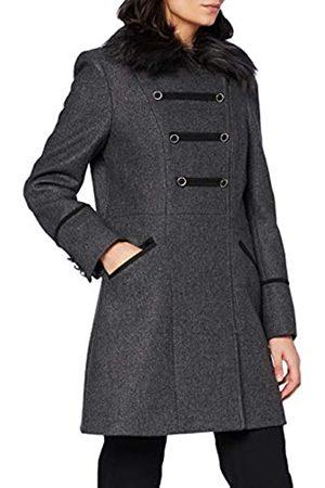 Naf-naf Damen A-lila Wollmischungs-Mantel