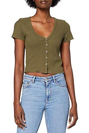 Lee Cooper Damen T-Shirts - Damen Button Rib Tee T-Shirt