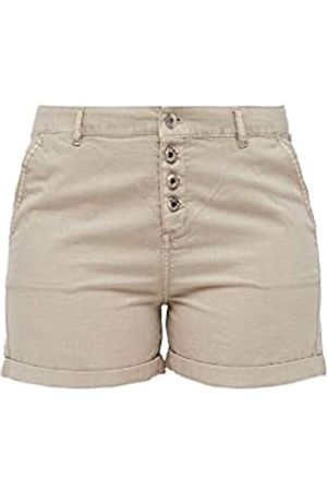 s.Oliver Q/S designed by - s.Oliver Damen Regular Fit: Shorts mit Knöpfen 36