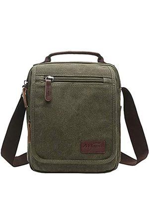 mygreen Kleiner Canvas Umhängetasche Schultertasche Messenger Bag Work Bag