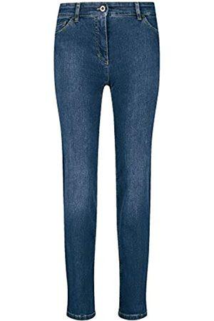 Gerry Weber Gerry Weber Damen 5-Pocket Jeans Straight Fit figurumspielend 46