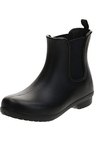 Crocs Damen Freesail Chelsea Boot W Gummistiefel, Black