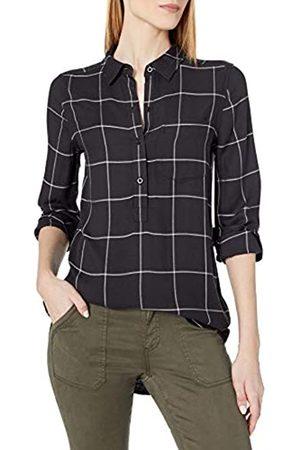 Daily Ritual Amazon Brand - Women's Soft Rayon Slub Twill Long-Sleeve Popover Tunic