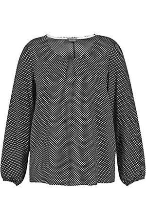 Samoon Damen Shirts - Damen Bluse mit Tupfen-Print leger
