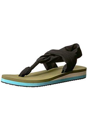 Chooka Damen Yogamatte Fußbett Sling Sport Sandale Flip-Flop, Grn (olivgrün)