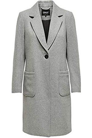 Only ONLY Female Mantel Langer Woll Slight Grey Melange