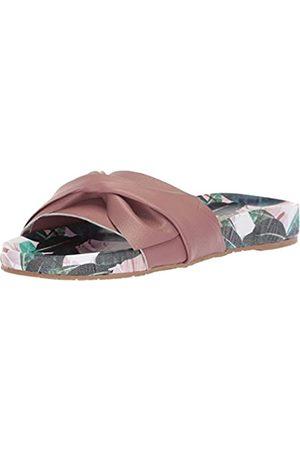KAANAS Women's GALERA Printed Pool Slide with Bow Fashion Sandal, Berry