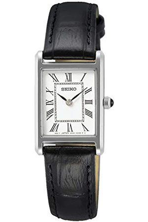 Seiko Seiko Damen Analog Quarz Uhr mit Leder Armband SWR053P1