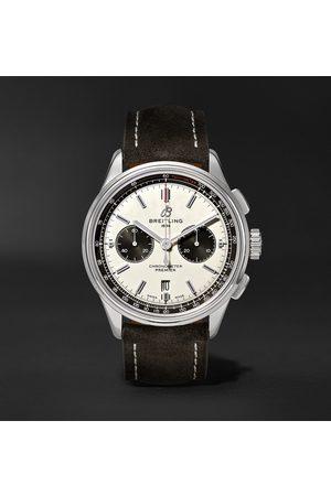 Breitling Herren Uhren - Premier B01 Automatic Chronograph 42mm Stainless Steel and Nubuck Watch, Ref. No. AB0118221G1X1