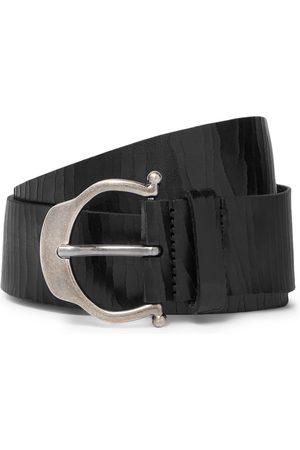 Saint Laurent Herren Gürtel - 3.5cm Cracked-Leather Belt