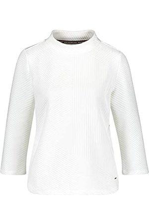 Taifun Damen 3/4 Arm Shirt aus Struktur-Jersey figurumspielend