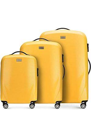 Wittchen Stabiler Reisekoffer Koffer-Set Trolley von Wittchen Material polycarbonat 4 Lenkrollen Zahlenschloss 11KG Farbe