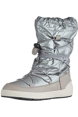 Geox J Sleigh Girl B ABX Snow Boot, Silver (Silver/ )
