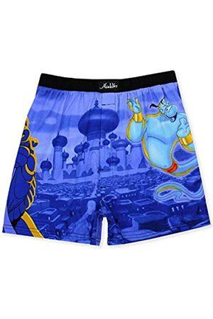 Disney Herren Boxershorts - Aladdin Genie Jafar Mens Briefly Stated Boxer Lounge Shorts (XX-Large