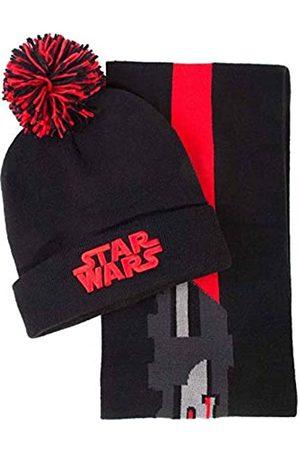 Difuzed Herren Hüte - Herren Darth Vader Beanie & Scarf Gift Winter-Zubehr-Set