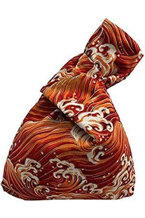 BAR Bee Baumwolltasche mit japanischem Muster, Handgelenktasche mit Knoten, trage Geldbörse aus Segeltuch, Geschenk für Mädchen, Jungen, Ehefrau