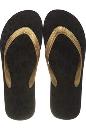 flip*flop Damen Originals Animal Luxe Zehentrenner, Black/Bronze