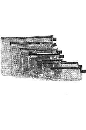 Travelon Travelon 7er Set Packumschläge transparent mit Rand Verschiedene Größen (Schwarz) - 0214-Black-One Size