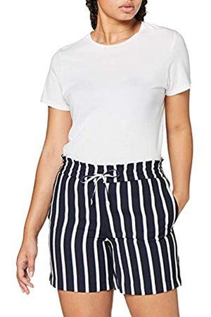 Only ONLY Damen ONLPIPER-ANN MW Stripe CC PNT Lässige Shorts