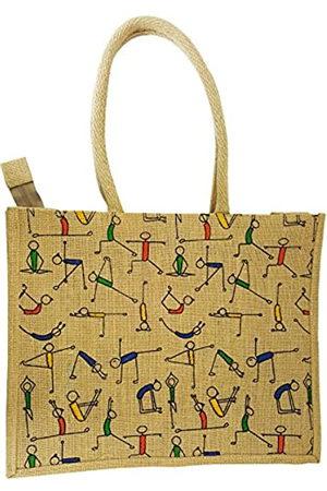 Mehrunnisa Mehrunnisa Handgefertigte Yoga-Jute-Tasche – Unisex (BAG1636)