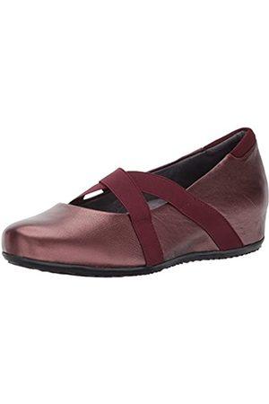 SOFTWALK Waverly Mary Jane Damen-Schuhe, flach, Burgunderrot