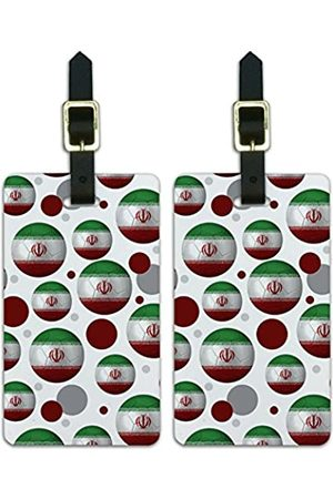 Graphics and More Graphics & More Futbol Football Country Z-Iran Flag Fußball (Weiß) - Luggage.Tags.09800