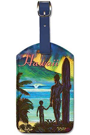 Pacifica Island Art Sharp Gepäckanhänger Pacifica Island Art aus Kunstleder – Ancient Hawaii von Sharp