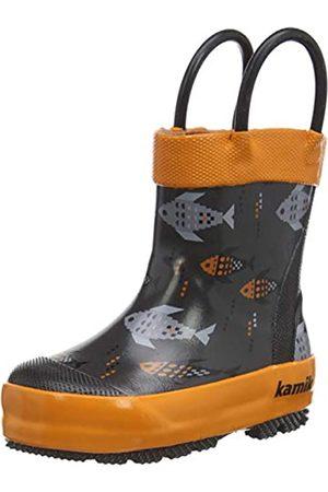 Kamik Kamik Unisex-Kinder Fishride Gummistiefel, Grau (Charcoal Orange CH5)