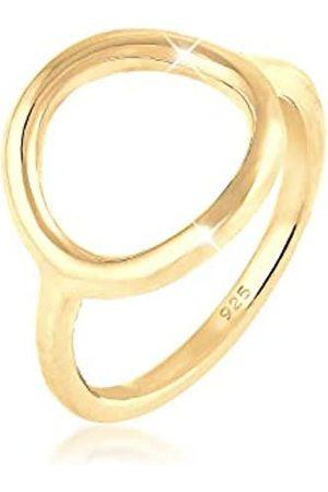 Elli Elli Ring Damen Kreis Rund Geo Statement in 925 Sterling Silber