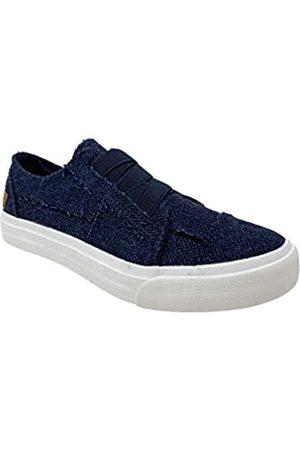 Blowfish Marley Damen Schuhe, Latte Spots Print Canva, Blau (Marineblaues Fischgrätenmuster)