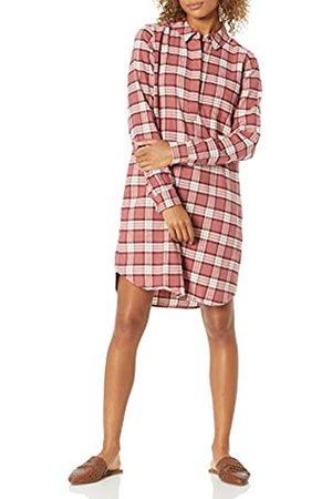 Goodthreads Damen Freizeitkleider - Brushed Flannel Popover Dress button-down-shirts