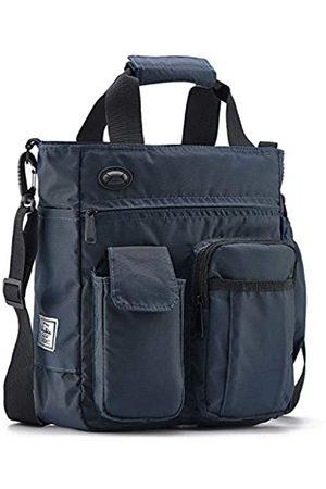 d'yallee Crossbody Messenger Bag Herren Wasserdichte Schulter Business Arbeitstasche Nylon, Blau (marineblau)