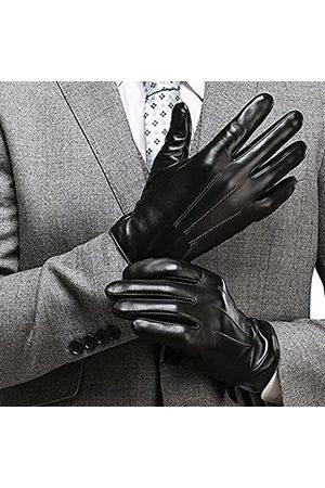 """HARRMS HerrenBesteTouchscreenNappa-echtesLeder-HandschuhefürTextingFahrenWinter-kalteWetterHandschuheM-8.5""""(USStandardSize)Schwarz-a"""