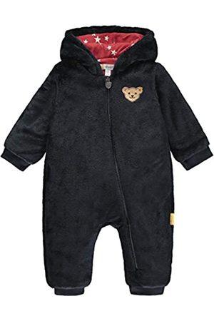 Steiff Steiff Baby-Mädchen mit süßer Teddybärapplikation Einteiler, Navy