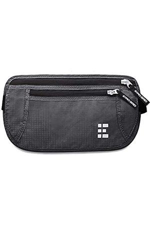 Zero Grid Geldgürtel Flache Bauchtasche mit RFID Blocker für Damen und Herren zum Reisen (Shadow Grey)