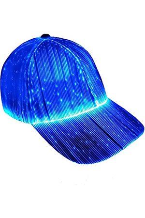 Ruconla Glasfaser-Kappe, LED-Hut mit 7 leuchtenden Farben, Hip-Hop-Baseballmütze, USB-Ladekabel, beleuchtete Kappen für Partys, Weihnachten, Veranstaltungen
