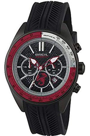Breil Herren Uhr aus der Kollektion Abarth TW1639 - Armbanduhr Chrono Gent mit Analogem Zifferblatt in und - OS21 MIYOTA Bewegung - Quarzuhr - mit schwarzem Silikon-Armband