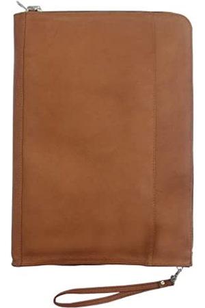 Piel Piel Leder Reißverschluss um Umschlag (braun) - 2567