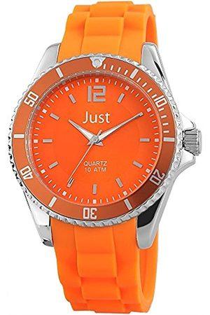 Just Watches Unisex Analog Quarz Uhr mit Kautschuk Armband 48-S3862-OR