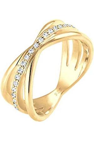 Elli Elli PREMIUM Ring Damen Wickelring Blogger mit Swarovski Kristallen in 925 Sterling Silber