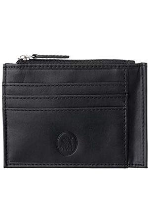 Nuvola pelle Kreditkartenetui für Damen und Herren, aus Leder mit Reißverschluss und Münzfach