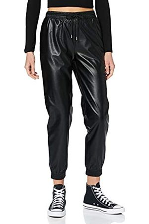 ONLY Damen ONLMADY-CALLEE MW Faux Leather CC PNT Hose, Black