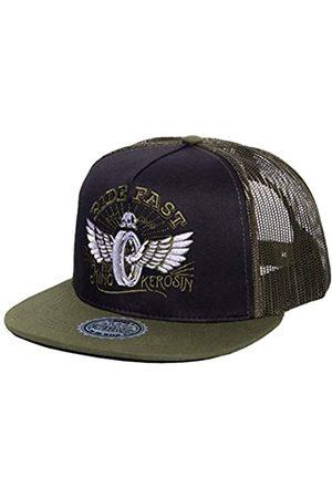 King kerosin Herren Caps - Herren Baseballcap Netzeinsatz Ride Fast Stickerei Biker Streetwear Ride Fast