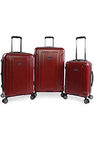 Original Penguin ORIGINAL PENGUIN Crest 2.0-3 Piece Set Expandable Suitcase with Spinner Wheels, Brick Red