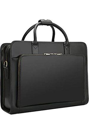 IBTXO IBTXO Aktentasche aus echtem Leder, Laptop-Schultertasche, Messenger-Tasche, Handtasche, Vintage