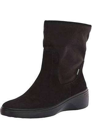 Ecco ECCO Damen Soft 7 Wedge BlackBlack MoonTextile Ankle Boot, Schwarz (Black/Black)