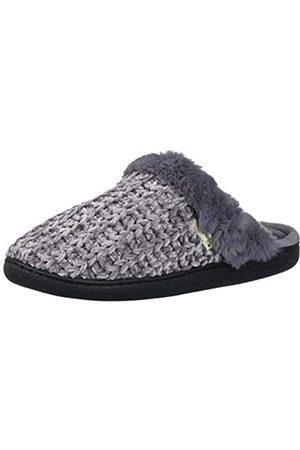 Dearfoams Damen Chenille Knit Scuff with Wide Widths Slipper